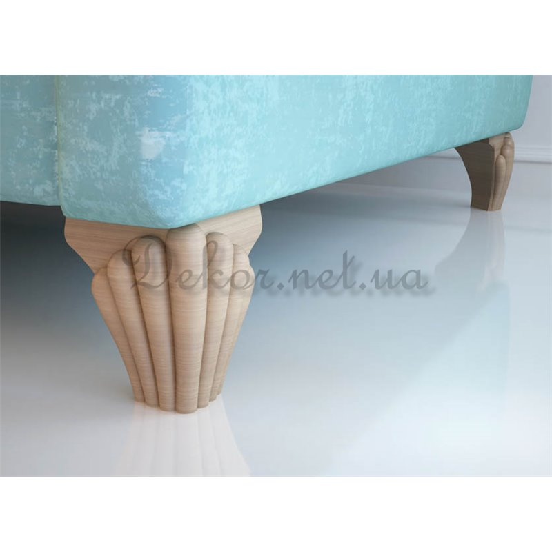 sofa with wooden leg