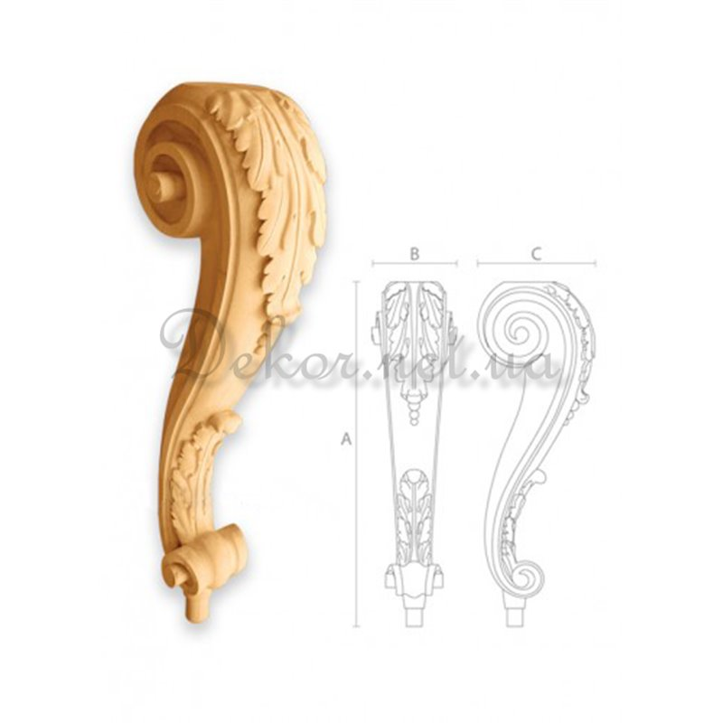 "Furniture leg ""MN - 012"" leaf convertible"
