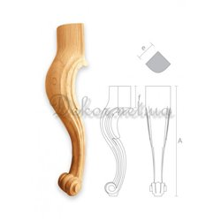 "Furniture leg for a chair ""MN - 036"" bent"