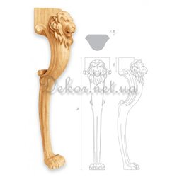 "Furniture leg for table ""MN - 045"" lion"
