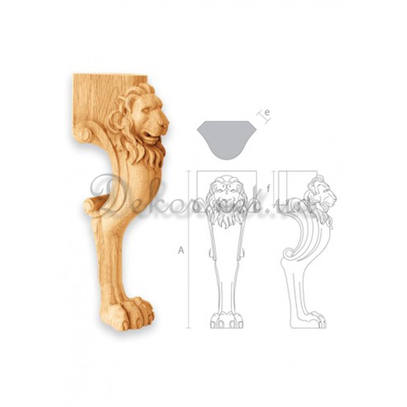"""Furniture leg for table """"MN - 046"""" lion m"""