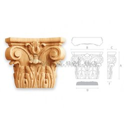 Capital carved wooden KAP - 004 Sums
