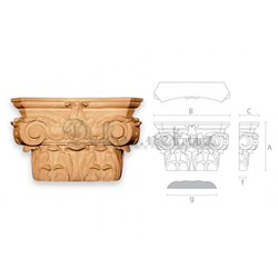 Capital carved wooden KAP - 005 Odessa