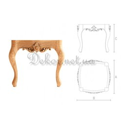 Stool carved from wood TAB - 001 Kronos