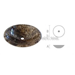 Laid on washbasin in bathroom RK - 005 marble